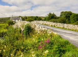 The historic Quiet Man Bridge in County Galway, Ireland, featured in the 1950s film, 'The Quiet Man'.