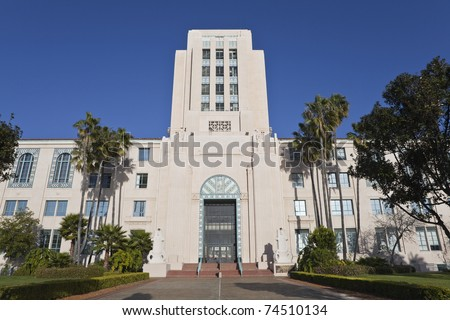 The Historic San Diego City and County Administration Building.