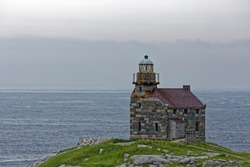 The historic stone lighthouse at Rose Blanche, Newfoundland and Labrador, Canada.