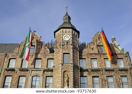 The historic town-hall of Dusseldorf in Germany