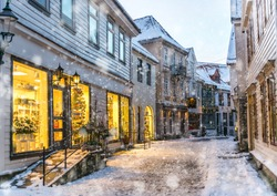 The historical part of the city. Bergen, Norway