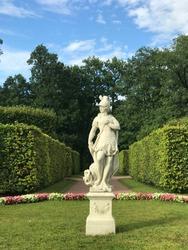 The historical sights of St. Petersburg -  Catherine Park, Tsarskoye Selo (Pushkin), Russia. Sculptures, monuments, nature, life of tsars.