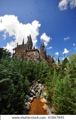 the Hogwarts Castle at the Universal Orlando Resort, Orlando, FL