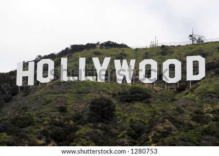 The Hollywood Sign. Image may require further licensing per Hollywood Chamber Of Commerce. - stock photo