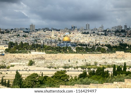 The holy city Jerusalem,Israel