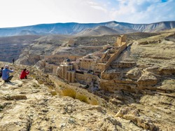 The Holy Lavra of Saint Sabbas the Sanctified, known in Arabic as Mar Saba, is an Eastern Orthodox Christian monastery overlooking the Kidron Valley.
