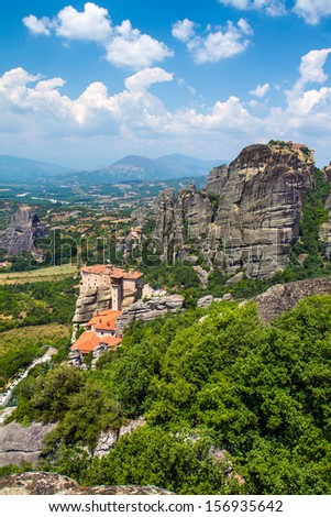 The Holy Monastery of Rousanou (St. Barbara) at Meteora, Trikala region in Greece
