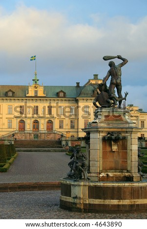 The home of the Swedish Royal Family. UNESCO World Heritage list. - stock photo