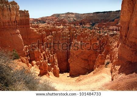 The Hoodoo rock spires of Bryce Canyon, Utah, USA.