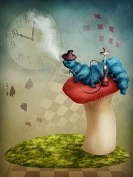 The Hookah Smoking Caterpillar from Alice in Wonderland