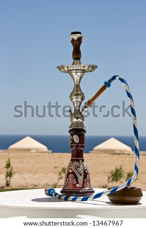 The hookah standing on the table. Egypt.