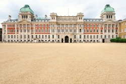 The Horse Guards Parade , a large parade ground off Whitehall in London