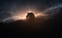 The Horsehead Nebula. Elements of this image furnished by NASA