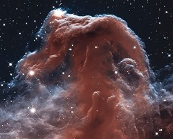 The Horsehead Nebula in the constellation of Orion (The Hunter)Elements of this image are furnished by NASA.