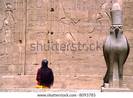 The Horus temple in Edfu, Egypt