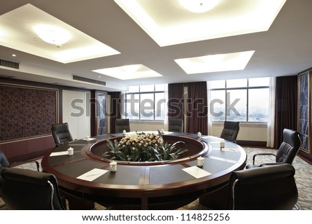 The hotel's conference room interiors