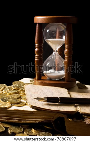 The hourglass and the book