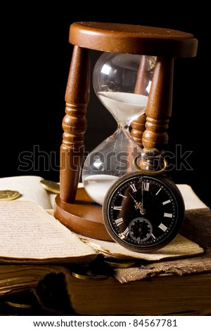 The hourglass and the book - vintage