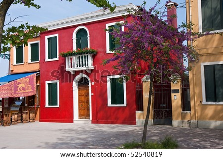 The house in Burano, Italy