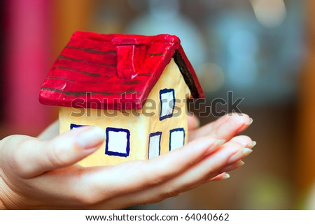The house in woman hands