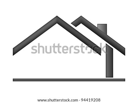 The house roof as a logo - Illustration