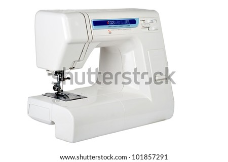the household sewing-machine on a white background