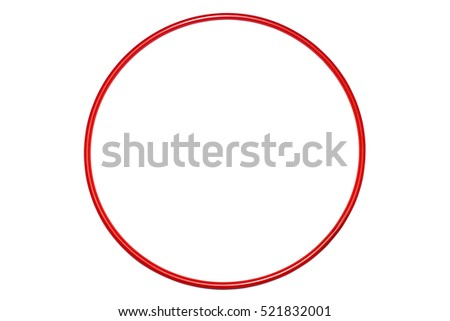 The hula Hoop red isolated on white background. Gymnastics, fitness,diet . #521832001
