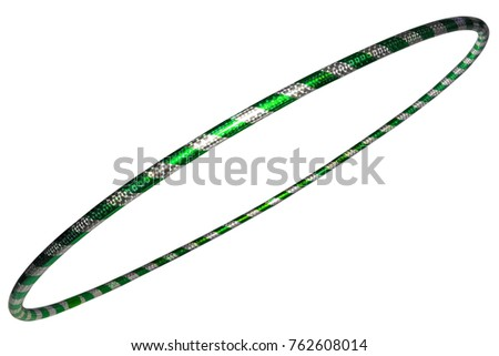 The hula Hoop silver with green closeup  #762608014