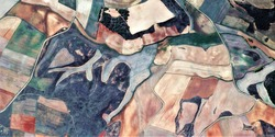 the hunting ground, tribute to Picasso, abstract photography of the Spain fields from the air, aerial view, representation of human labor camps, abstract, cubism, abstract naturalism,
