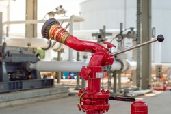 The Hydrant Monitor stand for mounting onto any fire hydrant.red water pipe and accessories for fire fighting at refinery plant.fire safety pipe.