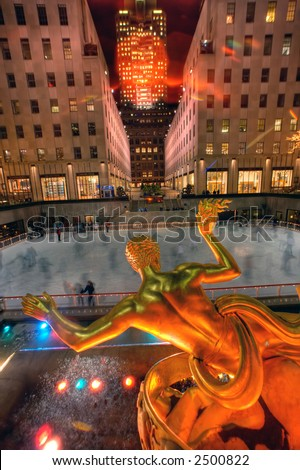 The Ice Rink at Rockefeller Center,NY,USA