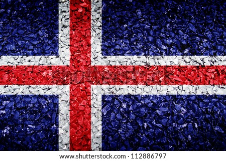 The Iceland flag on texture