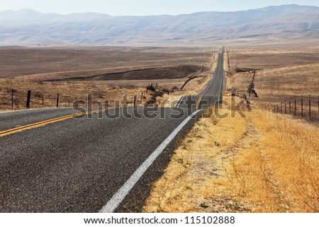The ideal way. Perfectly smooth highway across the endless desert