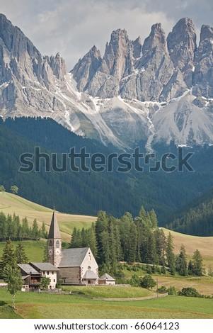 The idyllic mountain village of San Magdalena - stock photo
