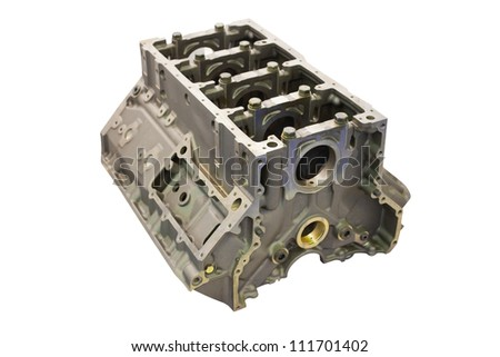 The image of a gas distribution mechanism of an explosion engine - stock photo
