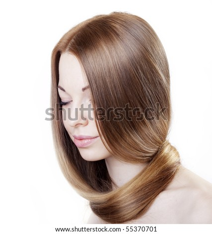 The image of a girl with beautiful hair