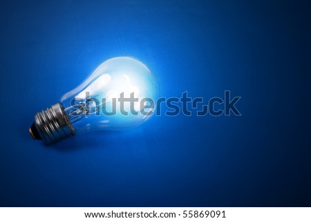 The image of a shone electric bulb.