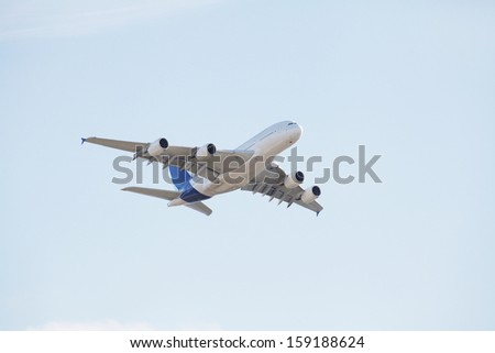The image of an airplane