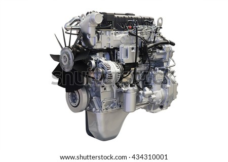 The image of an engine under the white background #434310001