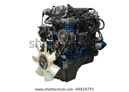The image of an engine under the white background #84818791
