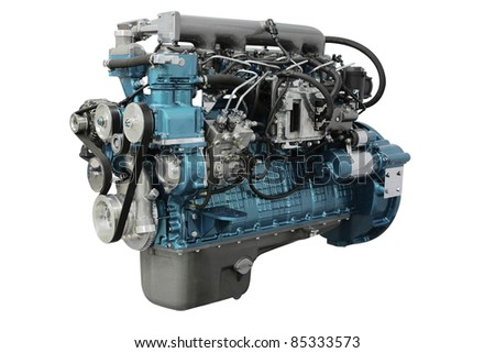 The image of an engine under the white background #85333573