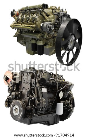 The image of an engine under the white background #91704914