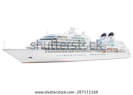 The image of an isolated cruise ship #287111168