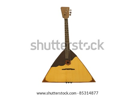 the image of balalaika under the white background