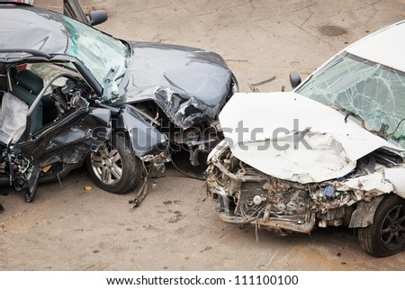 The image of crashed cars
