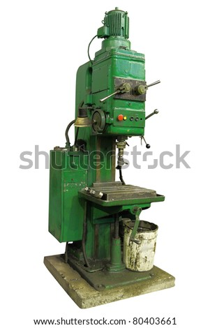 The image of drilling machine in the factory