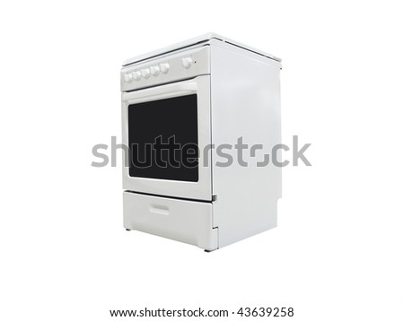 The image of electric stove under the white background