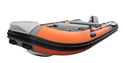 The image of inflatable rubber pvc motor boat for tourism travel and fishing or hunting