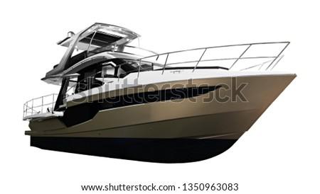 The image of large luxury passenger motor boat #1350963083