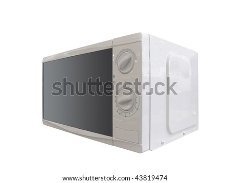 The image of microwave oven under the white background